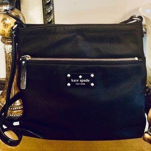 Kate Spade ♠️ Black Nylon Messenger Bag